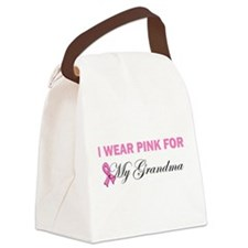 I wear pink for my mom2.png Canvas Lunch Bag