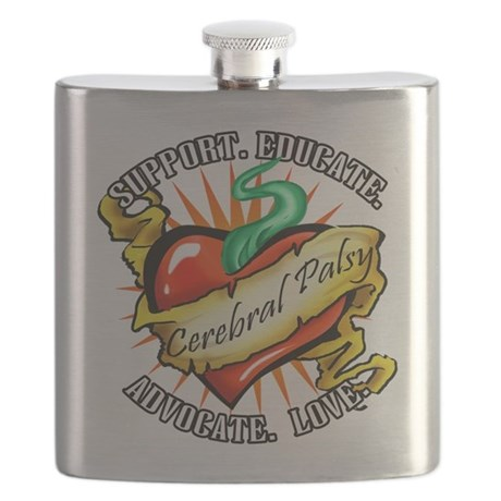 Cerebral palsy tattoo heart flask by mattmckendrick for Cerebral palsy tattoo