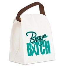 Brave-Bitch-Cervical-Cancer.png Canvas Lunch Bag