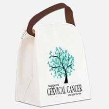 Cervical-Cancer-Tree.png Canvas Lunch Bag