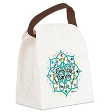Cervical-Cancer-Lotus.png Canvas Lunch Bag