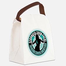 Cervical-Cancer-Boxing-Girl.png Canvas Lunch Bag