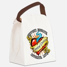 Cervical Cancer Tattoo Heart Canvas Lunch Bag