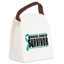 Cervical-Cancer-Survivor.png Canvas Lunch Bag