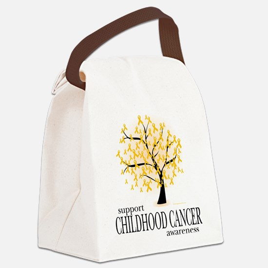 Childhood-Cancer-Tree.png Canvas Lunch Bag