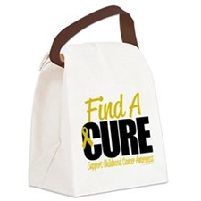 Childhood-Cancer-Find-A-Cure.png Canvas Lunch Bag