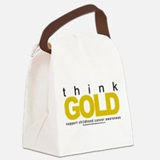 Childhood-Cancr-Think-GOLD.png Canvas Lunch Bag