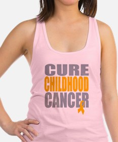 Cure Childhood Cancer.png Racerback Tank Top