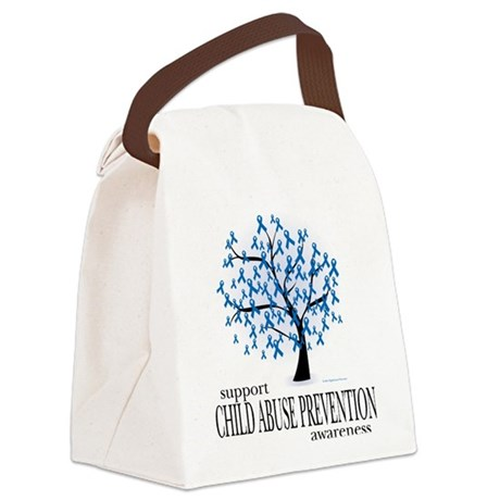 Child-Abuse-Tree.png Canvas Lunch Bag