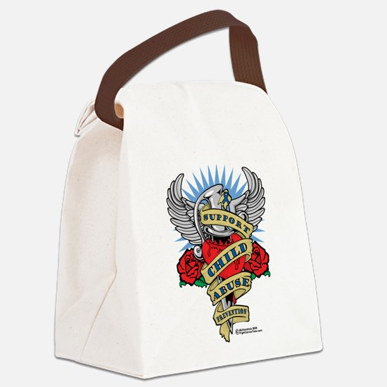 Child-Abuse-Dagger.png Canvas Lunch Bag