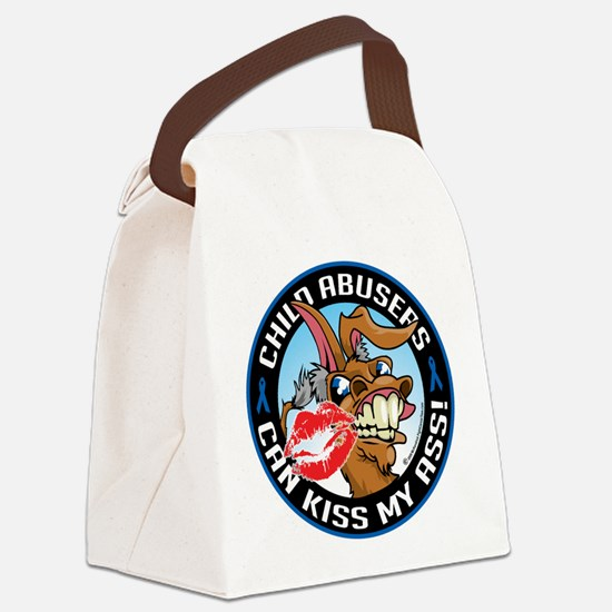 Child-Abusers-Can-Kiss-My-Ass.png Canvas Lunch Bag