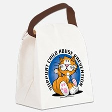 Child-Abuse-Prevention-Cat.png Canvas Lunch Bag
