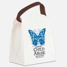 Child-Abuse-Butterfly.png Canvas Lunch Bag