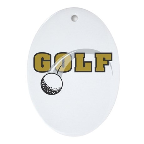 Golf Nuts Oval Ornament