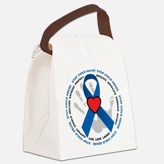Stop-Child-Abuse-Ribbon.png Canvas Lunch Bag