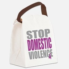 Stop-Domestic-Violence.png Canvas Lunch Bag