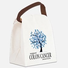 Colon-Cancer-Tree.png Canvas Lunch Bag