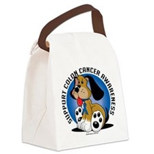 Colon-Cancer-Dog.png Canvas Lunch Bag