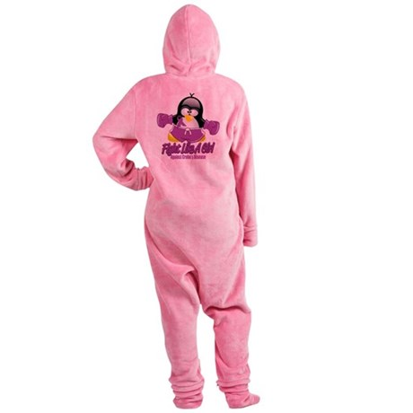 Crohns-Disease-Fighting-Penguin.png Footed Pajamas