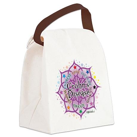 Crohns-Disease-Lotus.png Canvas Lunch Bag
