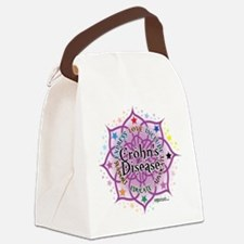 Crohns-Disease-Lotus.png Canvas Lunch Bag