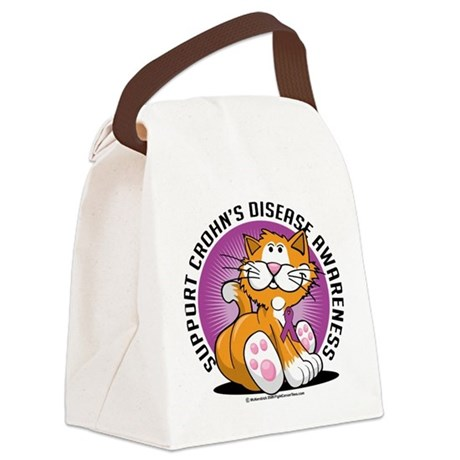 Crohns-Disease-Cat.png Canvas Lunch Bag