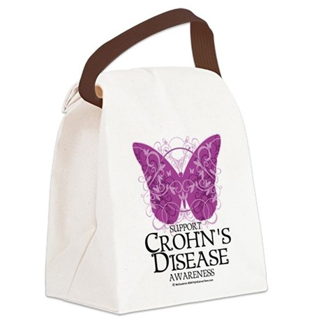 Crohns-Disease-Butterfly.png Canvas Lunch Bag