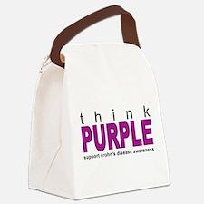 Think Purple: Crohn's Disease Canvas Lunch Bag