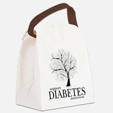 Diabetes-Tree.png Canvas Lunch Bag