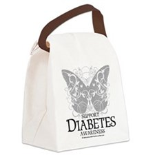 Diabetes-Butterfly.png Canvas Lunch Bag