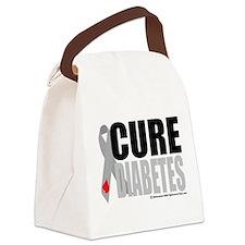 Cure-Diabetes-Ribbon.png Canvas Lunch Bag