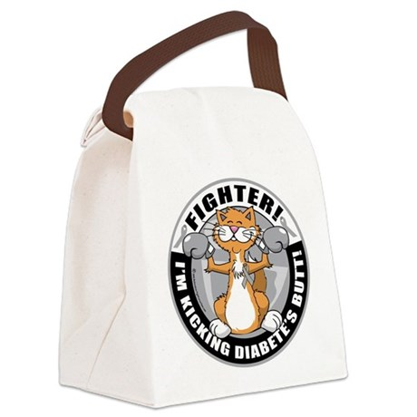 Diabetes-Cat-Fighter.png Canvas Lunch Bag