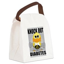 Knock-Out-Diabetes.png Canvas Lunch Bag