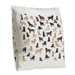 ROOSTER ROOSTER!! Burlap Throw Pillow