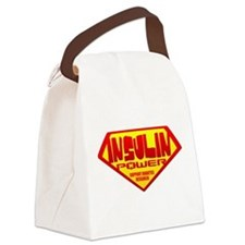 iNSULIN pOWERblk.png Canvas Lunch Bag