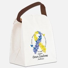 DS Butterfly Ribbon Canvas Lunch Bag