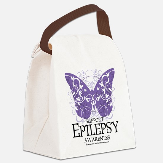 Epilepsy-Butterfly.png Canvas Lunch Bag