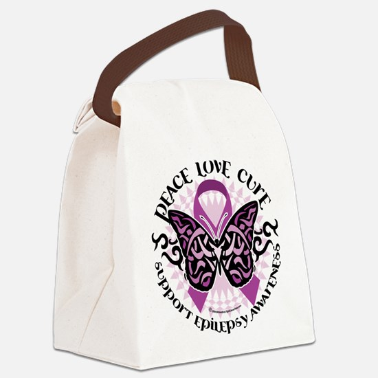 Epilepsy-Butterfly-Tribal-2.png Canvas Lunch Bag