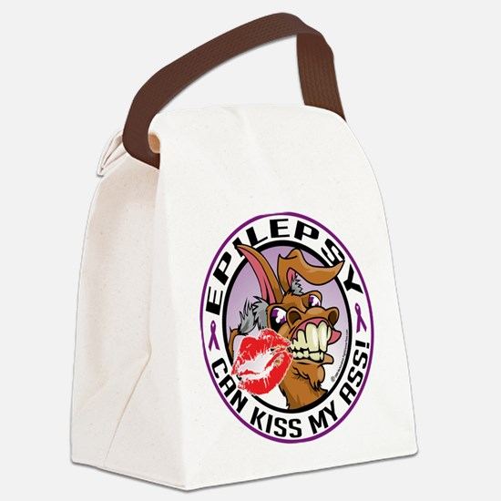 Epilepsy-Kiss-My-Ass.png Canvas Lunch Bag