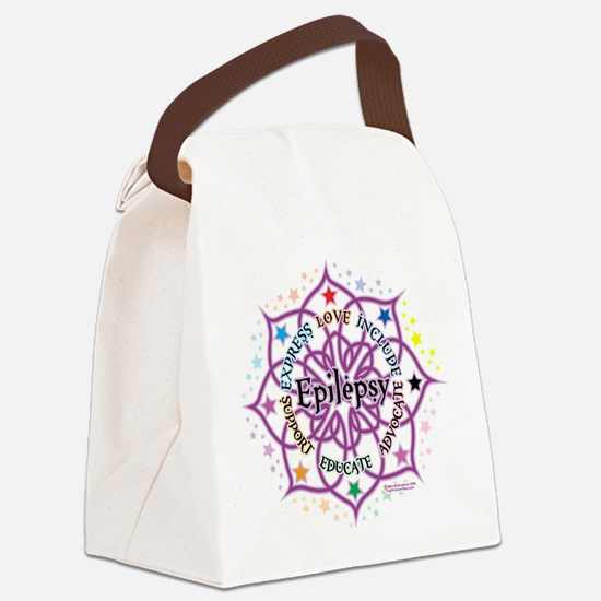 Epilepsy-Lotus.png Canvas Lunch Bag