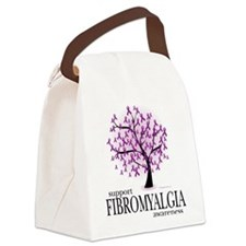 Fibromyalgia-Tree.png Canvas Lunch Bag