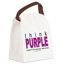 think-PURPLE-Fibromyalgia.png Canvas Lunch Bag