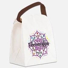Fibromyalgia-Lotus.png Canvas Lunch Bag