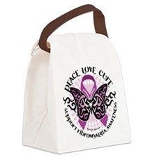 Fibromyalgia-Butterfly-Tribal.png Canvas Lunch Bag
