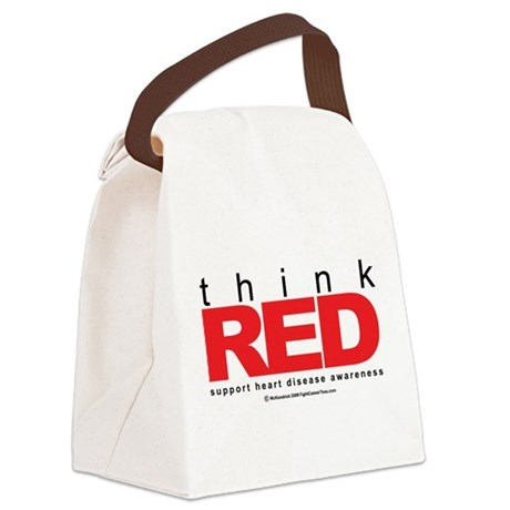 Heart-Disease-THINK-Red.png Canvas Lunch Bag