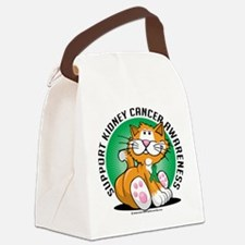 Kidney-Cancer-Cat.png Canvas Lunch Bag