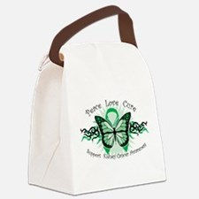Kidney Cancer Tribal Butterfl Canvas Lunch Bag