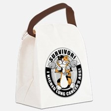 Lung-Cancer-Cat-Survivor.png Canvas Lunch Bag
