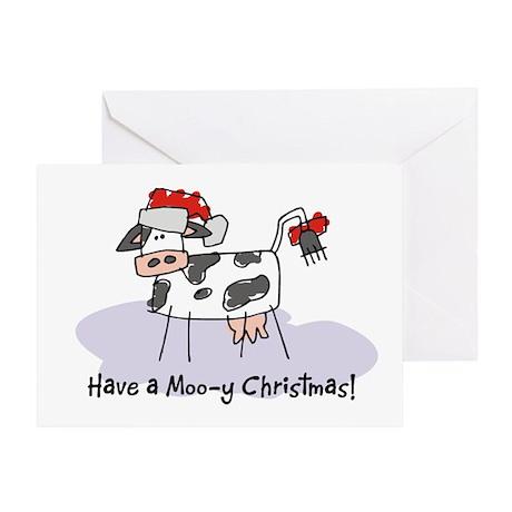 Moo-y Christmas Greeting Cards