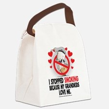 Stopped-Smoking-Grandkids.png Canvas Lunch Bag